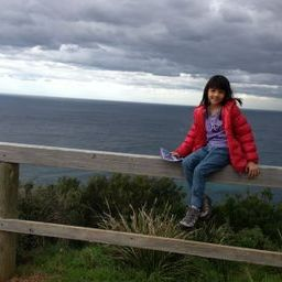 Kristen at one of our stops along the great ocean road