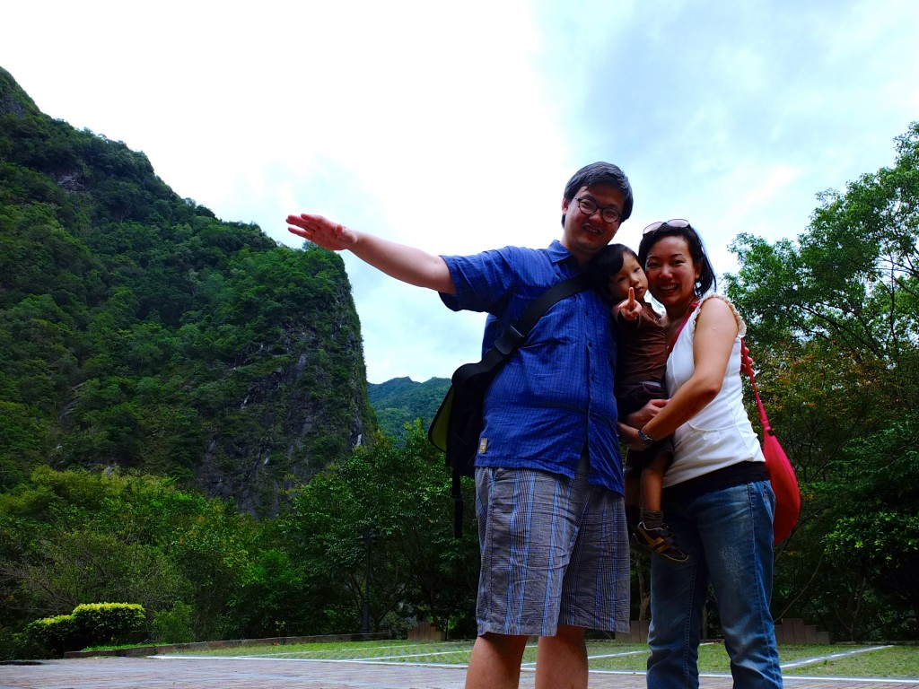 Our corny driver/ guide teaching us how to pose for funny pictures with the mountains
