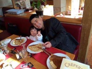 Well, we had crepes?