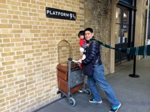 Travelling by train at Platform 9&3/4
