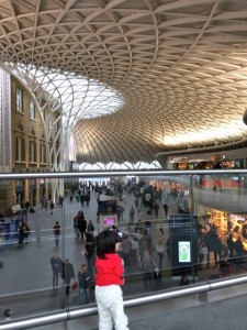 ... which is actually at King's Cross with its new fancy ceiling.