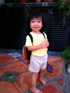 Mar: Coco starts school