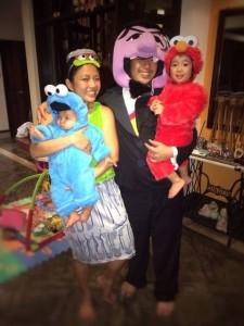 Oct: First family Halloween