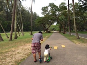 East Coast Park is nothing new but while we used to inline-skate down the length of the park, we now roll along for... 100 metres