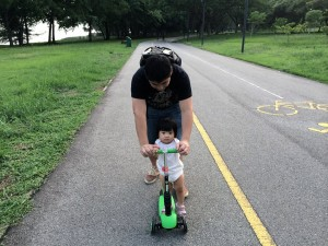 Separate lanes means that it's safe for the 1 year-old who refuses to sit in the stroller but WANTS to skate.