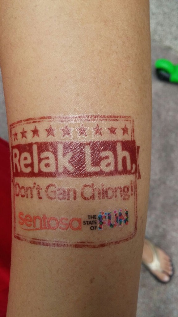 Love the Singlish tattoos!