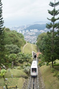 The funicular, or choo-choo train, that Cristan really enjoyed riding on!