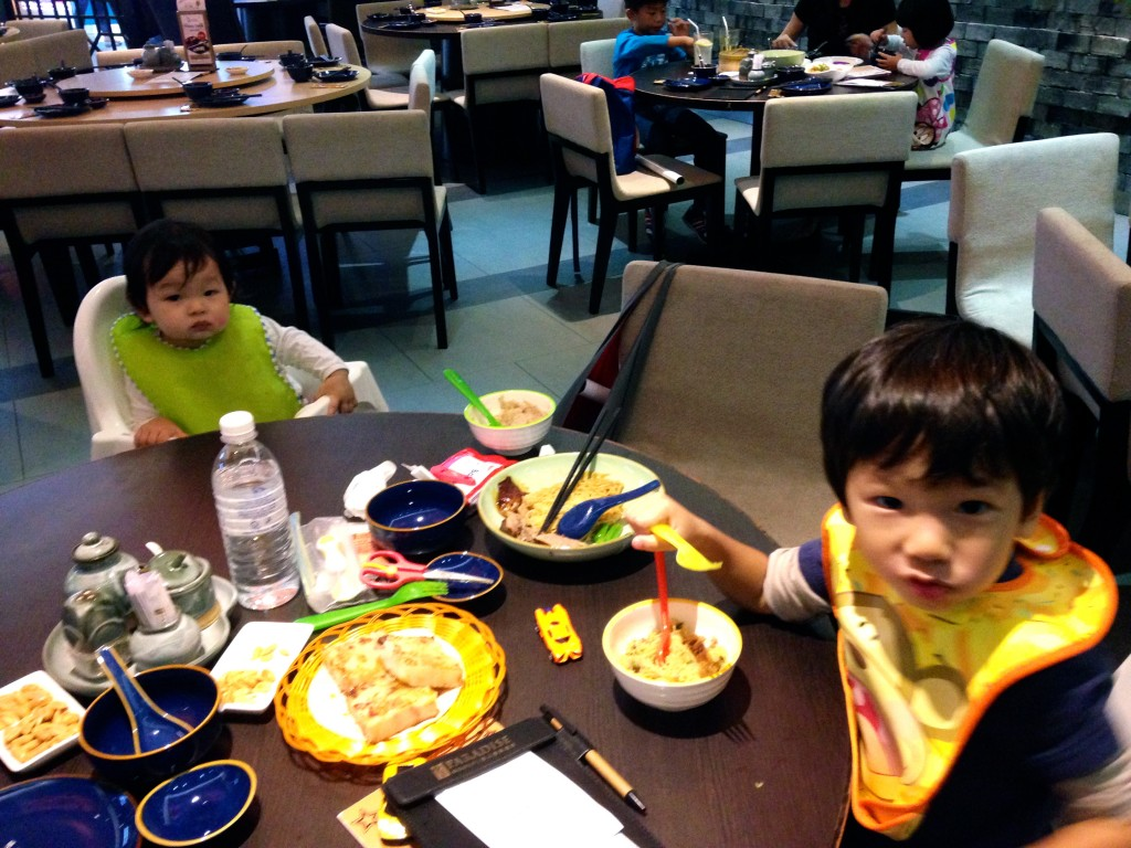 Lunch with two kiddos - which was a scary prospect for me because they get tired and cranky after children's church.