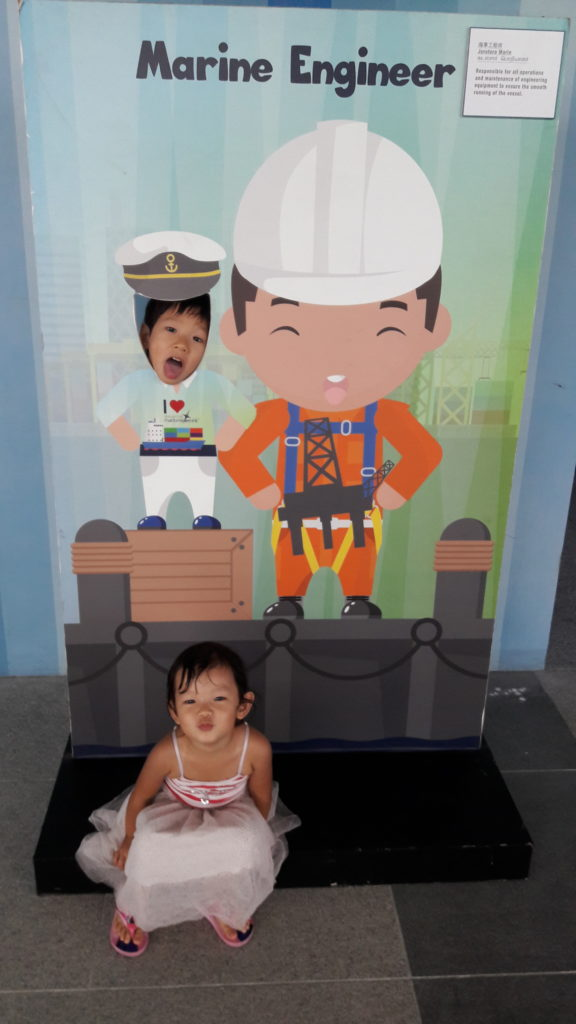 Cristan the Marine Engineer and Caris the adoring fan!