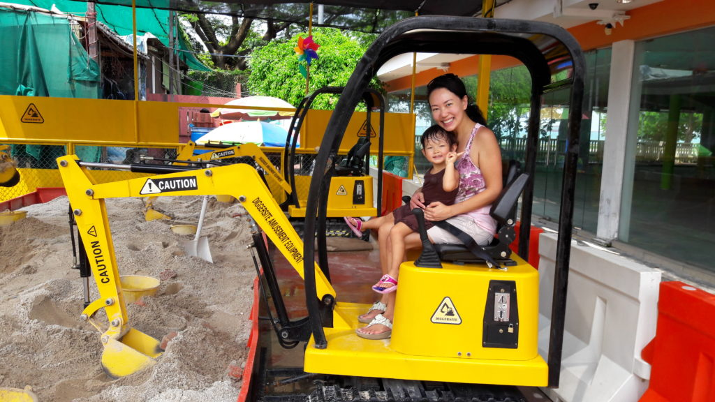 It was honestly quite fun to operate the digger!