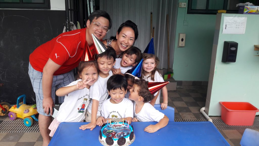 This year, its even more special coz Daddy joined the celebration in school!