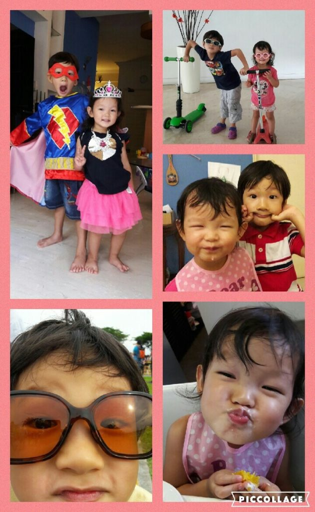 I couldn't even choose the best photo of the two munchkins...had to make a collage!