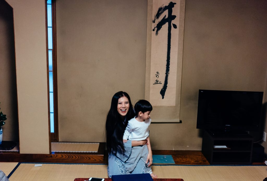 Ryokan days with the two-year-old nephew