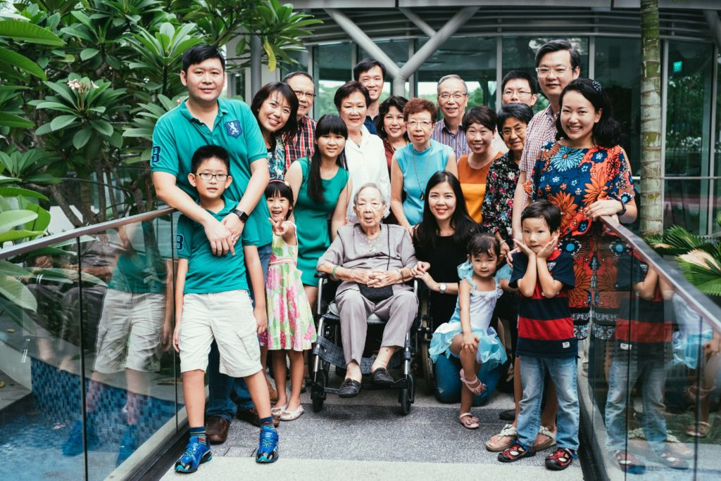 The entire clan (in Singapore, at least). Missing some relatives in Canada and Australia!