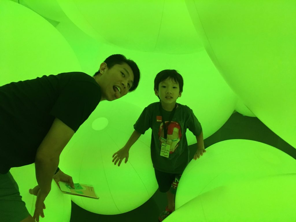 In the TeamLab installation with Godpa!