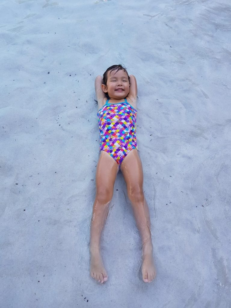Beach babe in the making! :)