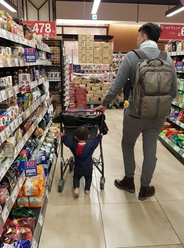 Having her fun at the supermarket