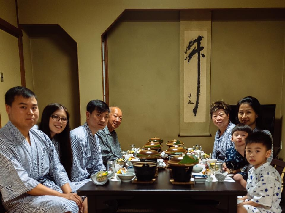 The entire family in Japan back in 2016